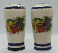 Ceramic Salt and Pepper Shakers Fruit pattern