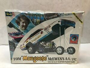 1/16 SCALE REVELL TOM 'MONGOOSE' MCWEN'S AA/FC DUSTER FUNNY CAR SEALED MODEL KIT