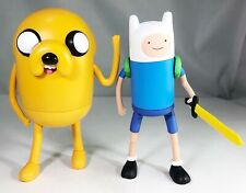 JAKE & FINN ADVENTURE TIME LARGE POSEABLE ACTION FIGURES CARTOON NETWORK 2011