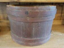 New ListingWonderful Large Wooden Shaker? Bucket Firkin Original Red Paint Must See