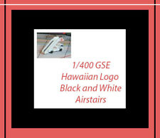 Jet-X Hawaiian GSE Air Stairs Ground Service Equipment Black White 1/400 Scale