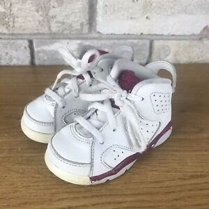 Nike Air Jordan 6 Retro BT Maroon 6s Baby Toddler 384667-116 Size 5c Children