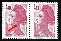 """Timbres France Neufs Marianne 1982 N°2244 Variété """"Grande griffe à l'oreille"""""""