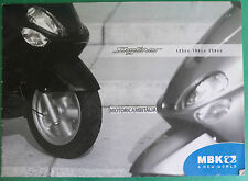 MBK SCOOTER SKYLINER 125 180 250 DEPLIANT CATALOGO BROCHURE CATALOG