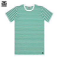 AS Colour ASColour Print Mens Blank Plain Staple Green Stripe T-Shirt Tee Cotton