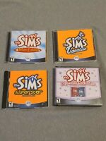 The Sims Deluxe Edition Original PC Games + Lot Of 3 Expansion Packs w/ manuals
