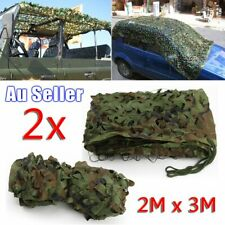 2m X 3m Oxford Fabric Camouflage Net Camo Netting Hunting Hide Army Camping Mesh