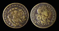Louis XIV Le Roi Soleil Roi des Francs et de Navarre - Laiton - F12841