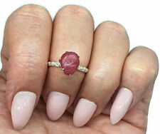 Raw Ruby Ring, Size 6.25, Sterling Silver, July Birthstone, 4.5 carats, Rough