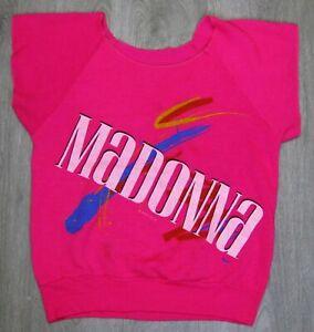 MADONNA VIRGIN TOUR SHIRT BOY TOY 1985 WINTERLAND HOT PINK PROMO Vintage RARE