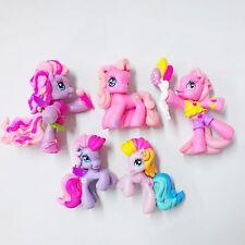 5pcs My Little Pony 2008 G3.5 Ponyville Anthro Sing & Rainbow Figures MLP HA215