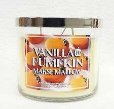 Bath & Body Works Home VANILLA PUMPKIN MARSHMALLOW 3-Wick Candle 14.5 oz