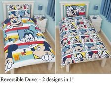 Licensed DISNEY MICKEY MOUSE Single Bed 2 in 1 Reversible Duvet/Quilt Cover Set