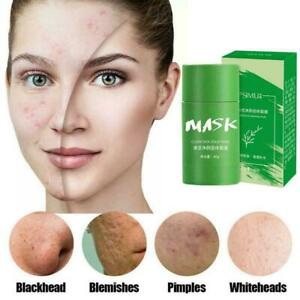 Green Tea Eggplant Purifying Clay Stick Mask Skin Oil Anti-Acne Control H8 V4N5