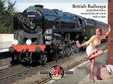 Nero Prince 92203,Treno A Vapore British Rail,Ragazza Pin Up,Medio Metallo/Tin