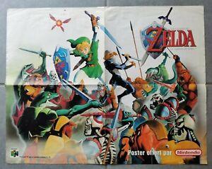 Poster NINTENDO MAG Nintendo 64 recto verso ZELDA OCARINA OF TIME et F-ZERO X