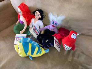 Disney Beanie Babies Little Mermaid Set Of Five New With Tags Read!