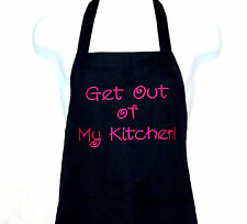 Funny Apron, Get Out Of My Kitchen, Custom Personalize With Name, AGIFT 094