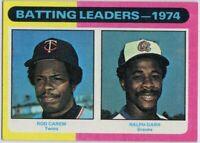 1975 Topps Mini #306 Batting Leaders NM-MINT+ Rod Carew TWINS Free Shipping