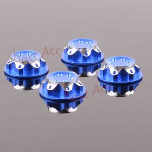 RC 1:8 Dust Proof 80127 4x Wheel Hub Cover Aluminium BLUE For TEAM C HSP NANDA