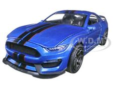 2016 FORD SHELBY MUSTANG GT350R BLUE/BLACK 1/24 DIECAST MODEL BY NEW RAY 71833