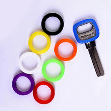 8pcs 25mm Silicone Key Cap Covers Topper Keyring With Bly Braille Mixed Colors