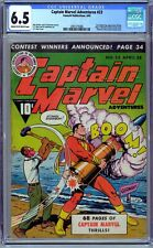 Captain Marvel Adventures #23 CGC 6.5 (1943, Fawcett)  C.C. Beck. Golden Age