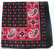 Black Red White Green Paisley Scarf Cotton Bandana Headscarf Necktie Wrist tie
