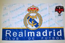 Real Madrid Flag Banner 3x5 ft Spain White Futbol Soccer Bandera Club de Futbol