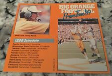 1989 Schedule University of Tennessee Football, Pocket Size, Coach Johnny Majors