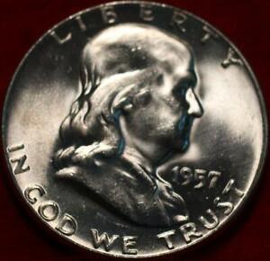 Uncirculated 1957 Philadelphia Mint Silver Franklin Half
