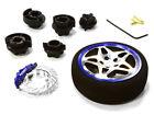 C26406GUNBLUE D5S Steering Wheel Set for Most HPI, Fut, Air, Hitec KO