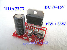 TDA7377 DC 9V-16V Mini Dual Channel Stereo 35W*2 Audio Power Amplifier Board