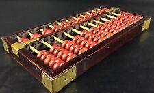 Vintage calculatrice chinoise en bois à 11 rangs - Suanpan