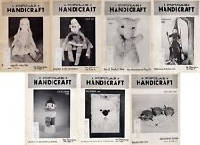 Popular Handicraft Magazine - Vintage 1967-1968 - Craft Projects - 7 Issues