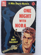 One Night with Nora by Brett Halliday Vintage Dell Crime Mike Shayne Mystery