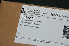BOSCH BUDERUS 7099200 KABELBAUM + ADAPTER GB112 V1 KOMPLETT NEU