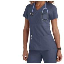 Grey's Anatomy | Womens XS 4153 Gray Mock Wrap Scrub Top