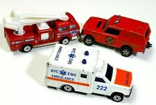 Majorette 3 LOT Emergency Truck NYC Ambulance Fire Engines 207 255 246  lrcb4