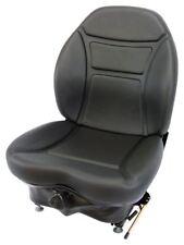 Milsco Brand CR100 Black Vinyl Seat and Suspension for Multiple Machines