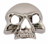 Womens Skull Belt Buckle Skeleton Gothic Usa Tattoo Tribal Silver Metal Mens