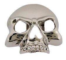 Womens Skull Belt Buckle Skeleton Gothic Usa Tattoo Tribal Silver Metal Mens