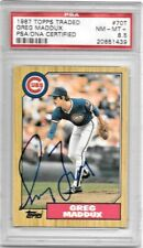 1987 TOPPS TRADED 70T Greg Maddux Auto Signed RC PSA 8.5 PSA/DNA