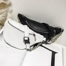 Mujer Piel Sintética Pack Cinturón Cremallera Riñonera Pecho Bolsa Cruzado US