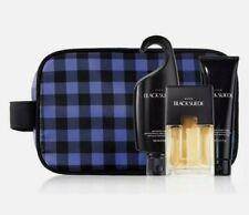 Avon Holiday Dopp Kit - Black Suede 4 piece set