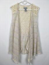 Catherines Womens Cream Knit Sleeveless Vest Size 14/16W B0117