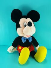 Disney Mickey Mouse Plush Stuffed Vintage Plastic Eyes Applause Blue Tie 13""