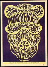 Mindbenders - Concert VINTAGE BAND POSTERS Song Rock Travel Old Advert #ob