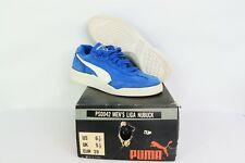 NOS Vtg 90s Puma Liga Nubuck Suede Indoor Soccer Shoes Trainers Blue Mens 6.5