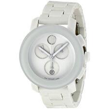 Movado Bold Chronograph Small White Bracelet Ladies Watch 3600057